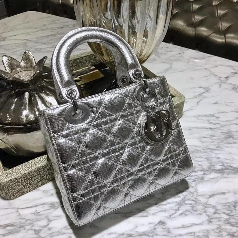 Dior 迪奥 戴妃包 Lady Dior 全新 原厂进口皮 大象纹 实拍