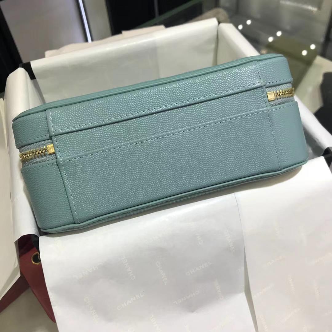 Chanel 香奈儿 化妆包 薄荷绿 21cm 现货金色五金