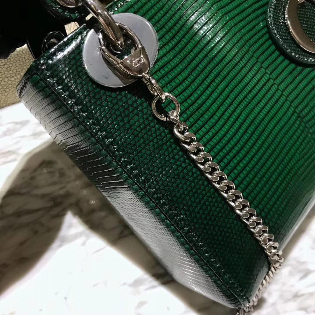 Dior 迪奥 戴妃包 Lady Dior 今年的潮流色 墨绿色 招财色