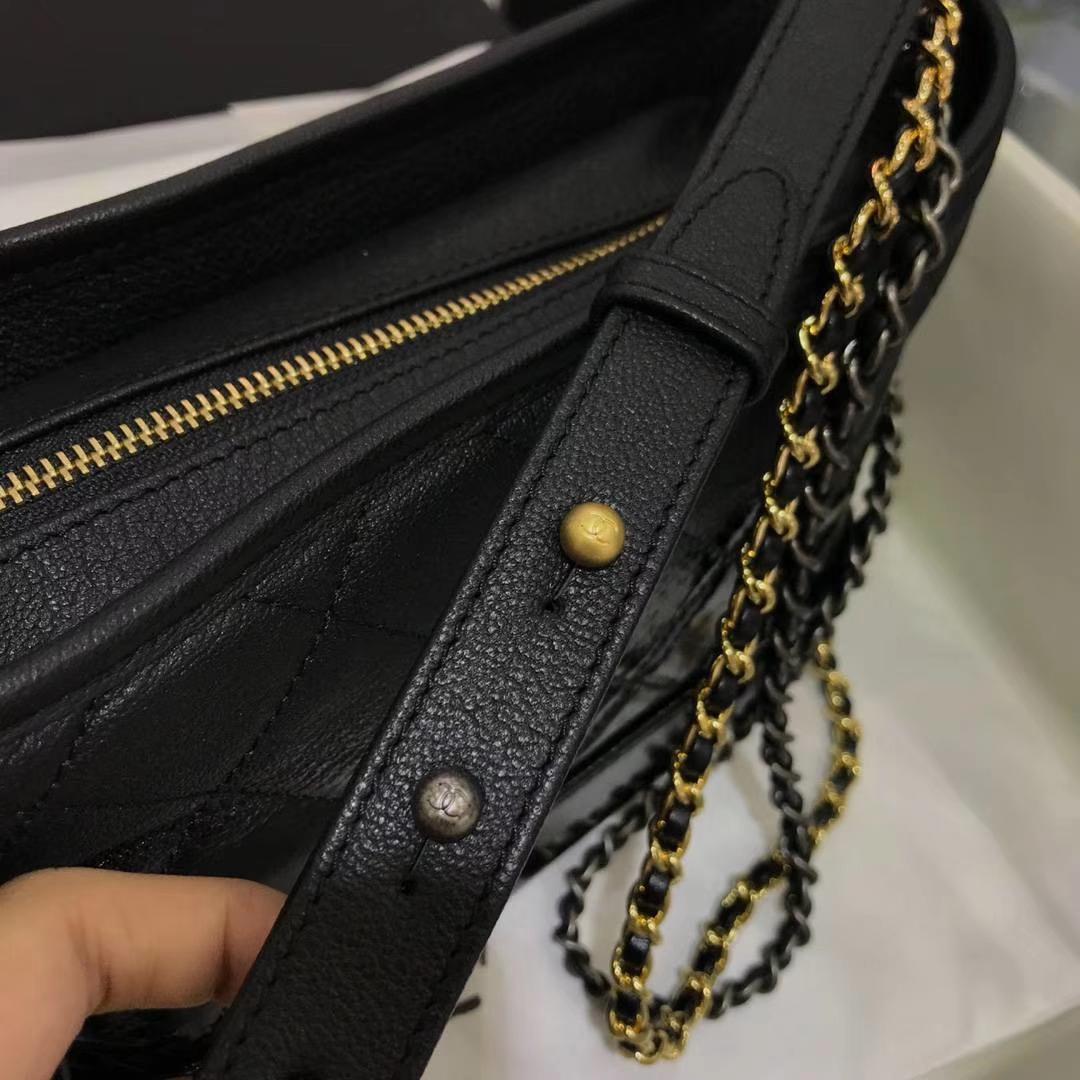 Chanel 香奈儿 Gabrielle 20cm 原厂山羊皮 经典黑