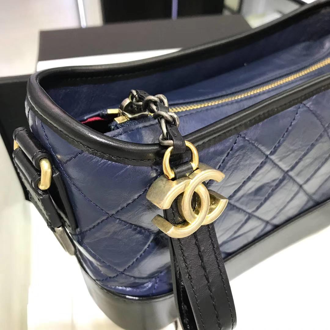 Chanel 香奈儿 Gabrielle 20cm 原厂树膏皮 宝石蓝
