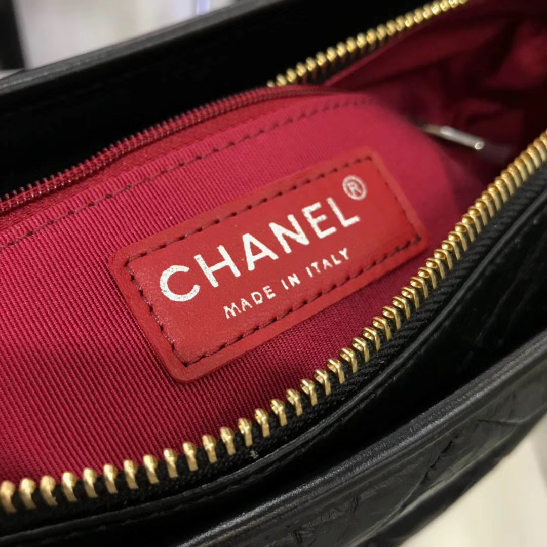 Chanel 香奈儿 Gabrielle 28cm 原厂树膏皮 经典黑色