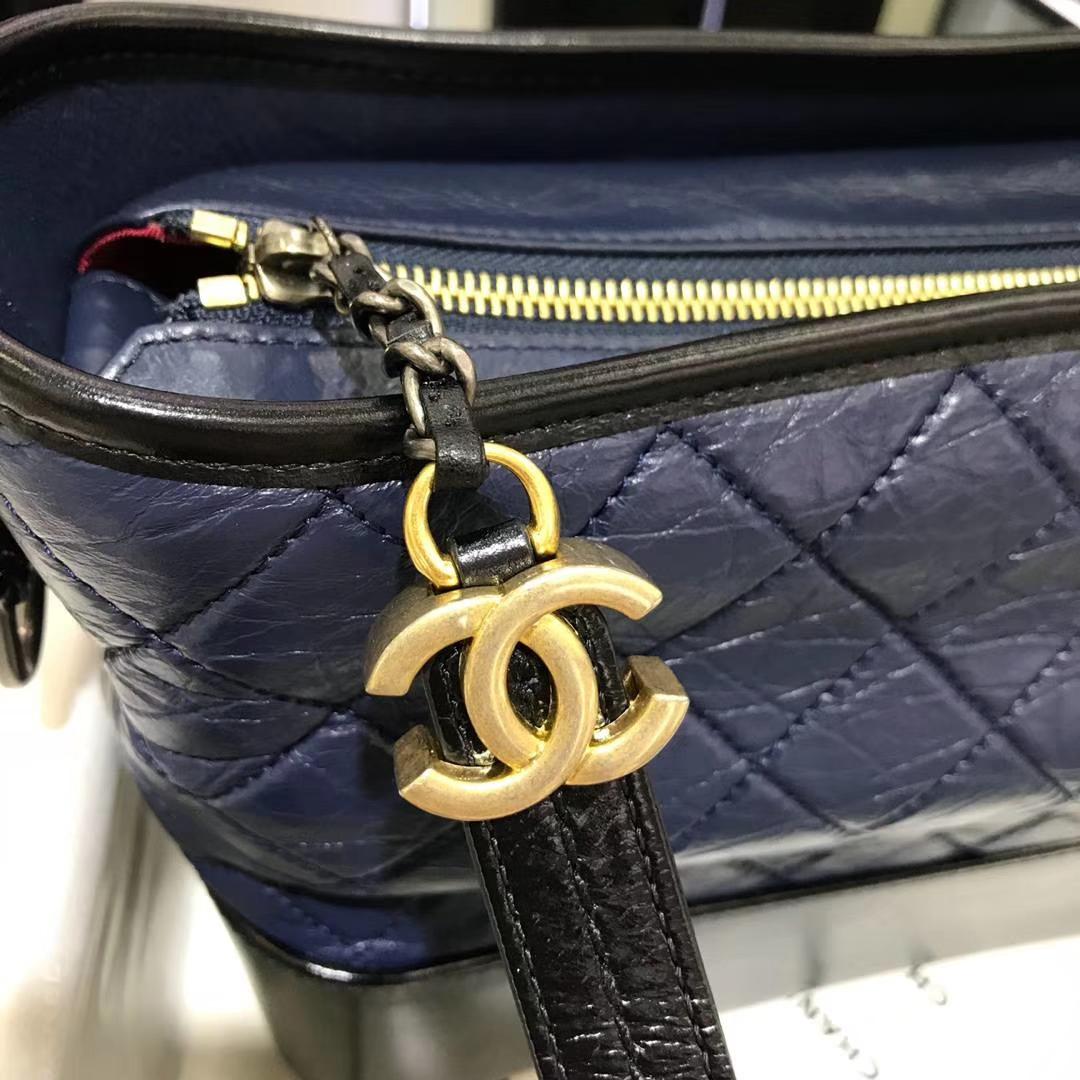 Chanel 香奈儿 Gabrielle 28cm 原厂树膏皮 宝石蓝