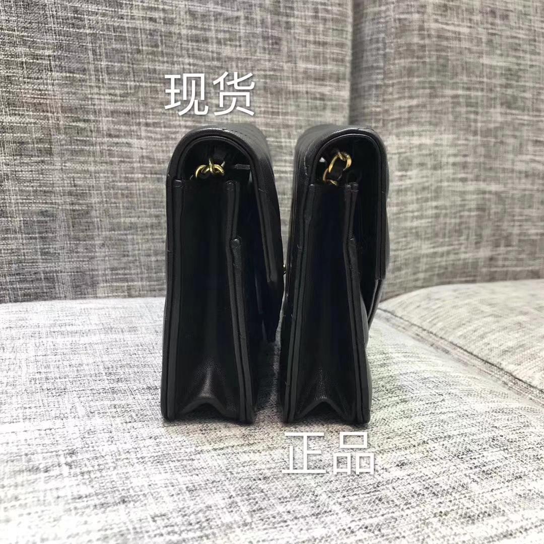 Chanel香奈儿最新款铆钉WOC黑色19cm 大货vs正品