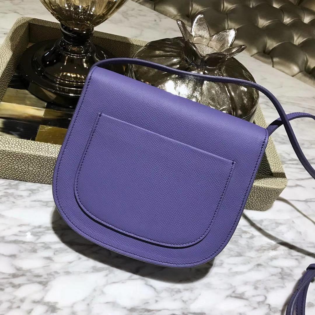 Celine 思琳 五角包 23cm 原厂进口牛皮 皮肩带 紫罗兰