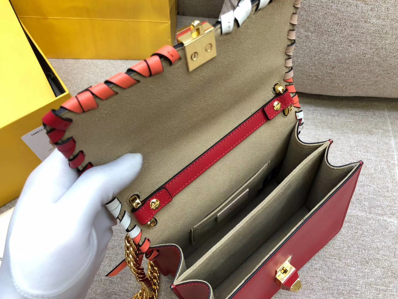 KANIPICCOLA翻盖迷你手袋 小牛皮 19cm 小蝴蝶结装饰 金扣链条包
