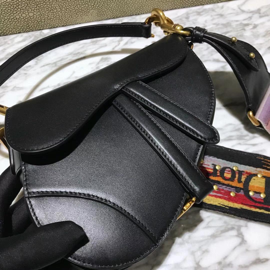 Dior 马鞍包 黑色 小号 原厂高端进口头层皮