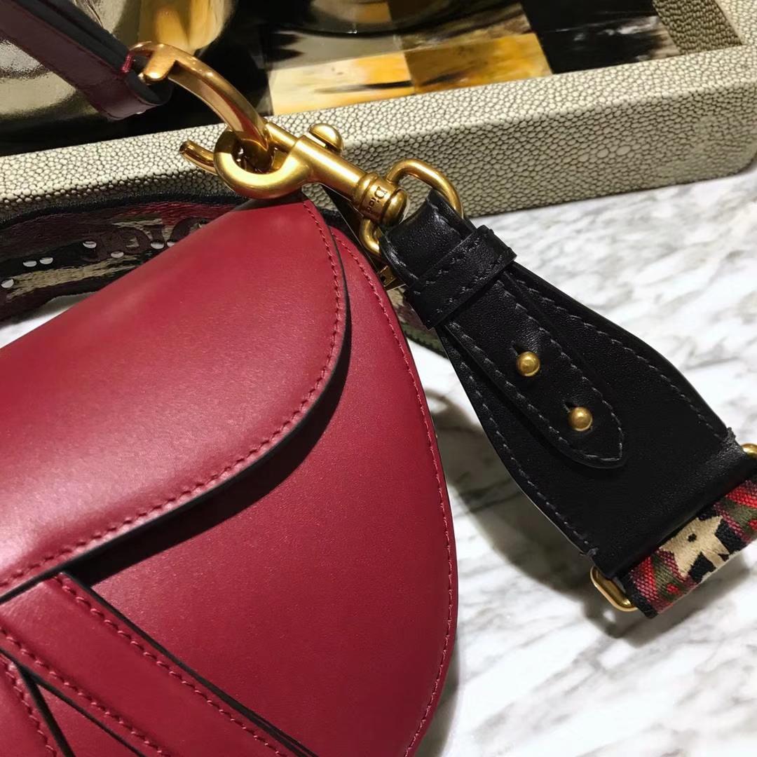 Dior 马鞍包 红色 大号 原厂高端进口头层皮