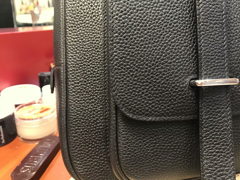 HERMES 爱马仕 男士邮差公文包 BLACK 黑色 现货系列 配全套专柜原版包装
