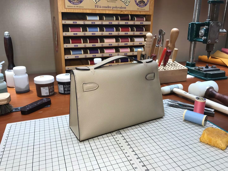 迷你凯莉 MiniKelly HERMES 爱马仕 S2 风衣灰 Trench 配全套专柜原版包装
