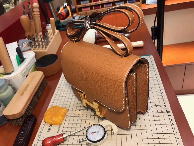 CK37 金棕色 Gold 空姐包 Constance 配全套专柜原版包装 接受定制 HERMES 爱马仕