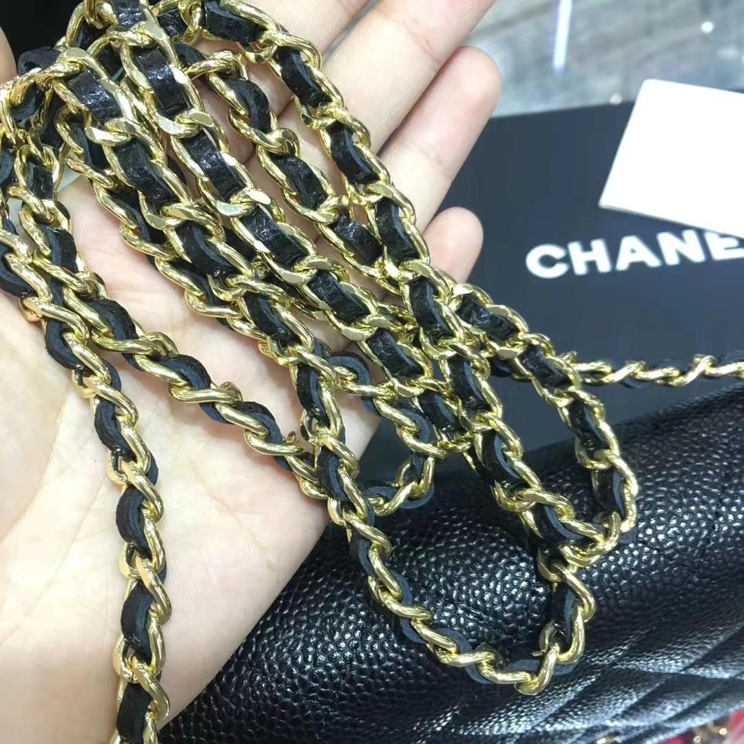 Chanel 香奈儿 WOC 进口鱼子酱皮 黑色 金扣 少量现货