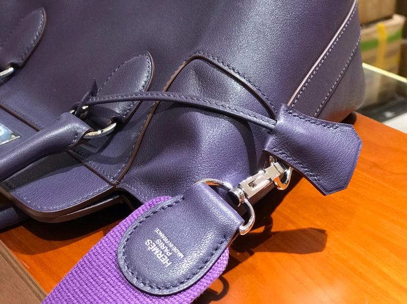 HERMES 爱马仕 专柜新款 Toolbox Swift 牛奶盒 20cm 梦幻紫