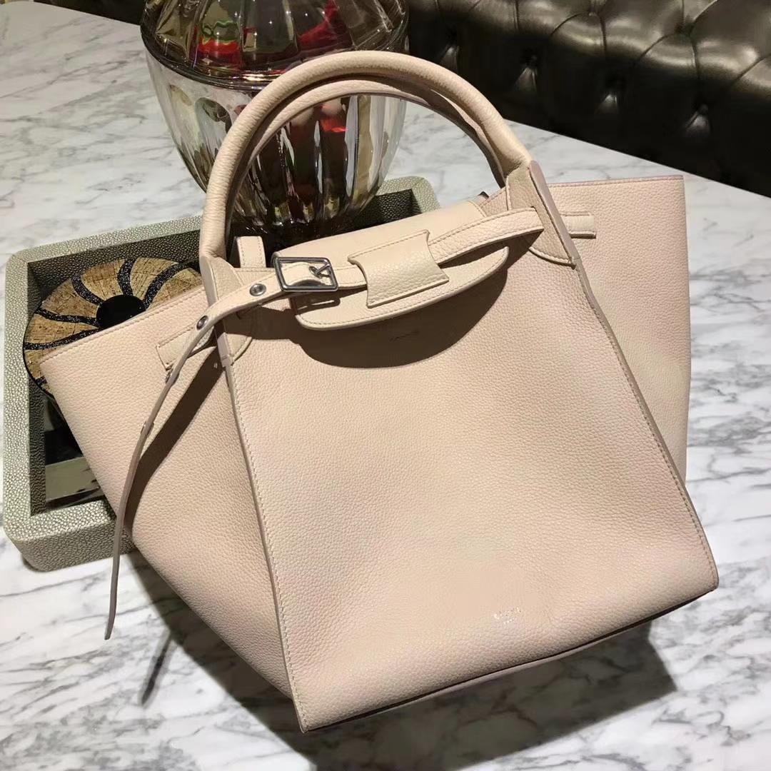 CÉLINE购物袋专柜同步发售  中号24x26x22cm  裸粉色