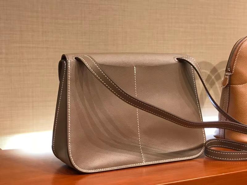Hermes 爱马仕 Halzan swift 大象灰 银扣 配全套专柜原版包装