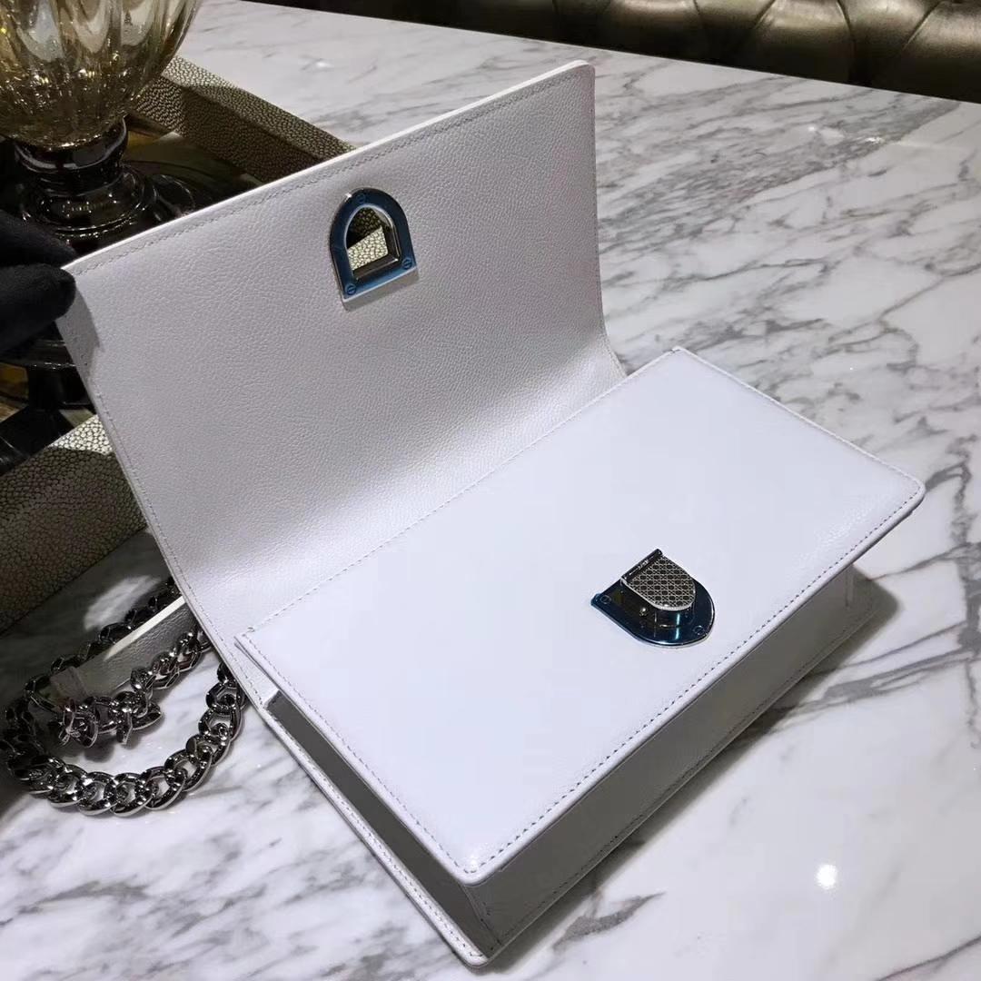 广州品牌包包定制 Dior腾格纹 白色 球纹 25cm/21cm
