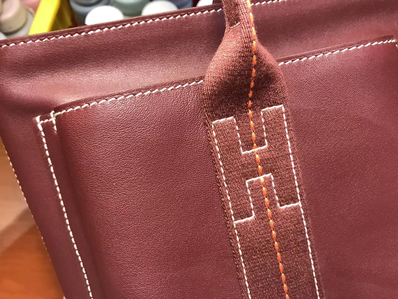 Hermes 爱马仕 大篷车经典款酒红色 银扣 配全套专柜原版包装