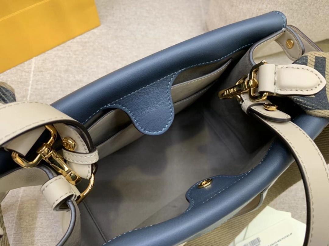 Fendi Flip最新系列FF长肩带 原版开发 单肩斜挎手提三用 灰色拼色黑色