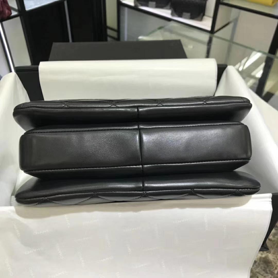 Chanel 香奈儿 TrendyCC 小羊皮 黑色 25cm 银扣(现货)