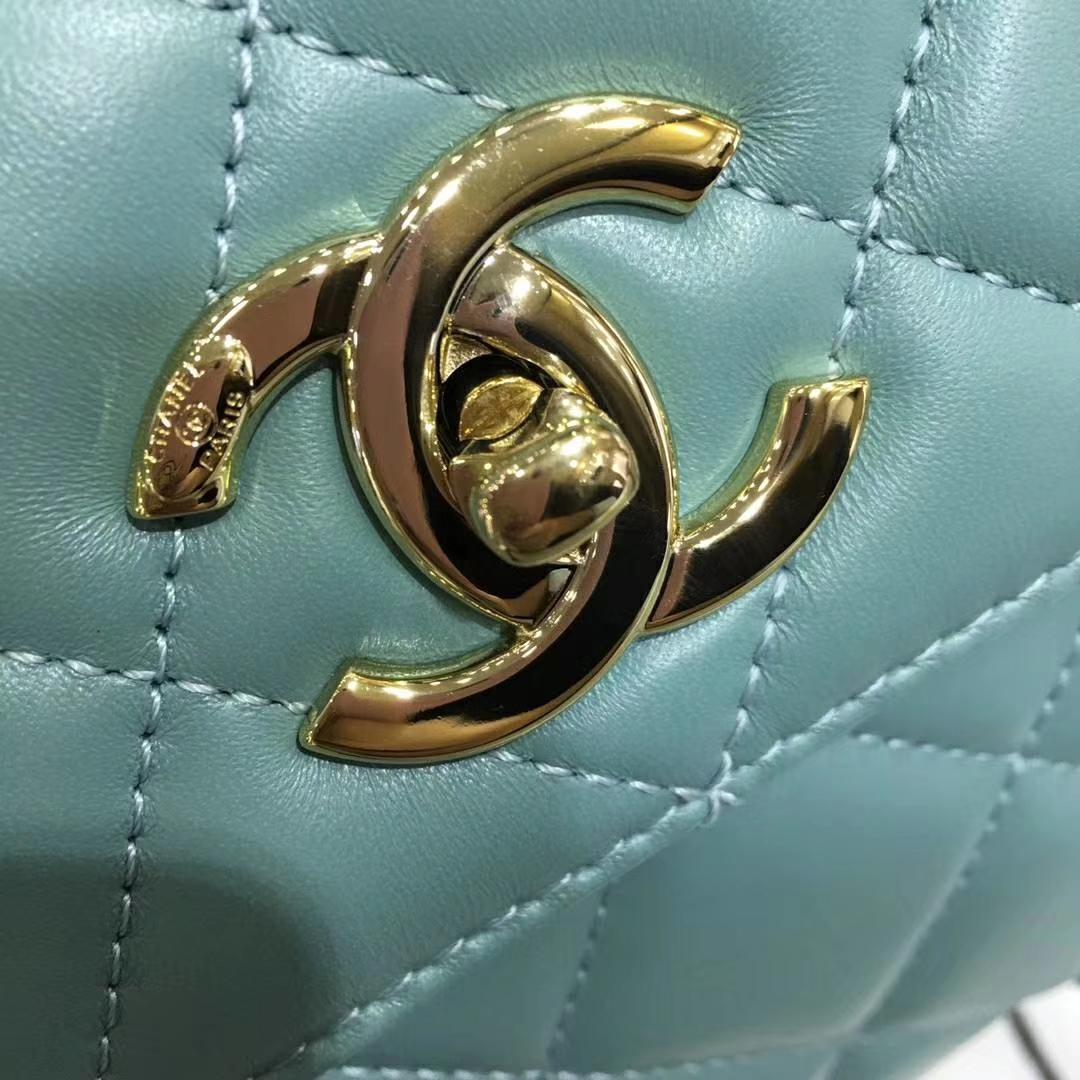 Chanel 香奈儿 TrendyCC小羊皮 薄荷绿 25cm 浅金扣 现货