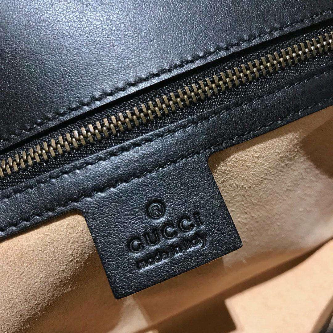 GUCCI官网同步 代购版本 原厂皮料五金打造 工艺一流 26cm 黑色