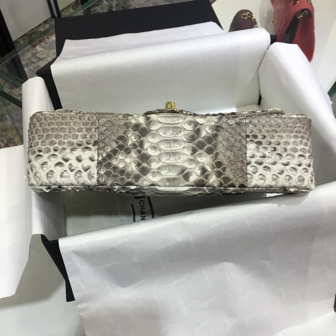 Chanel 香奈儿 cf 进口南非蟒色皮 半手工打造 原花色 价格小贵但是值得拥有