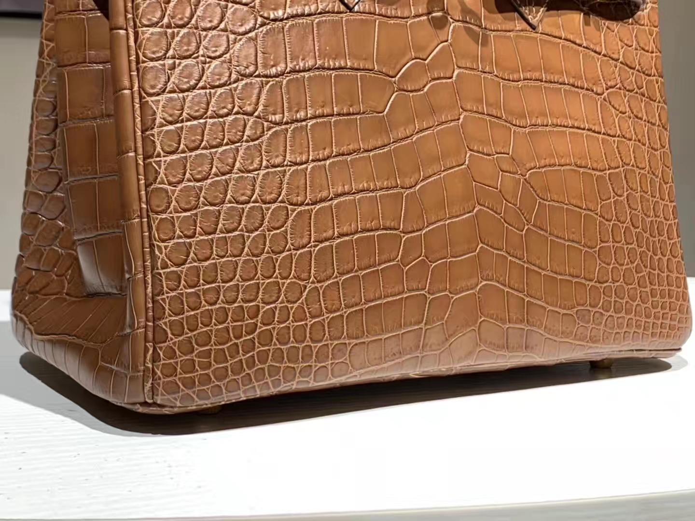 HERMES birkin 30cm 鳄鱼皮 焦糖色 现货