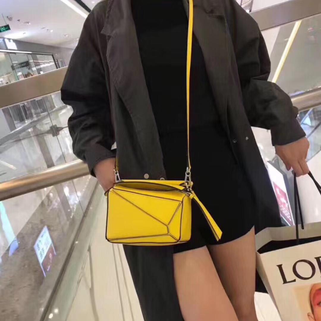 Loewe puzzle 迷你 超级跑量款 2019新色 黄色