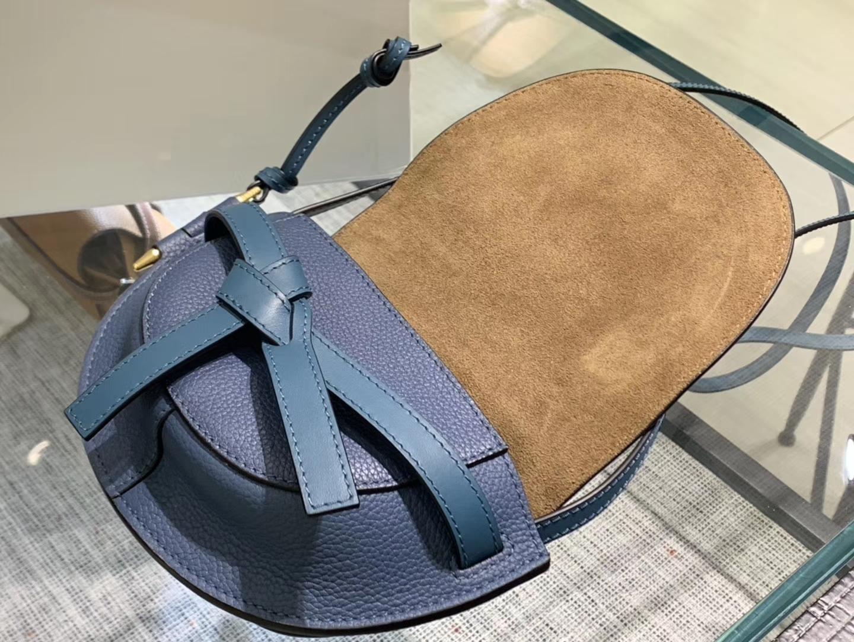 Loewe Gate系列 2019新色 斜挎小包 Mini号 蓝色