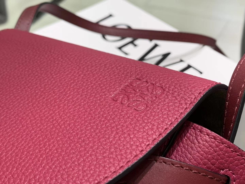 Loewe Gate系列 2019新色 斜挎小包 Mini号酒红色