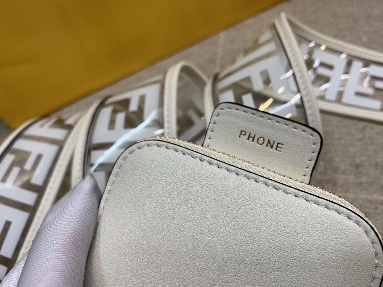 Fendi 芬迪 最新胸包 肩带可单用 白色