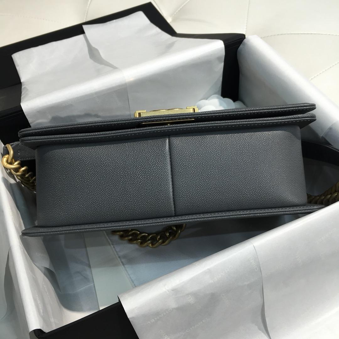 Chanel 香奈儿 leboy 中号 25cm经典菱格 正品级 锡器灰