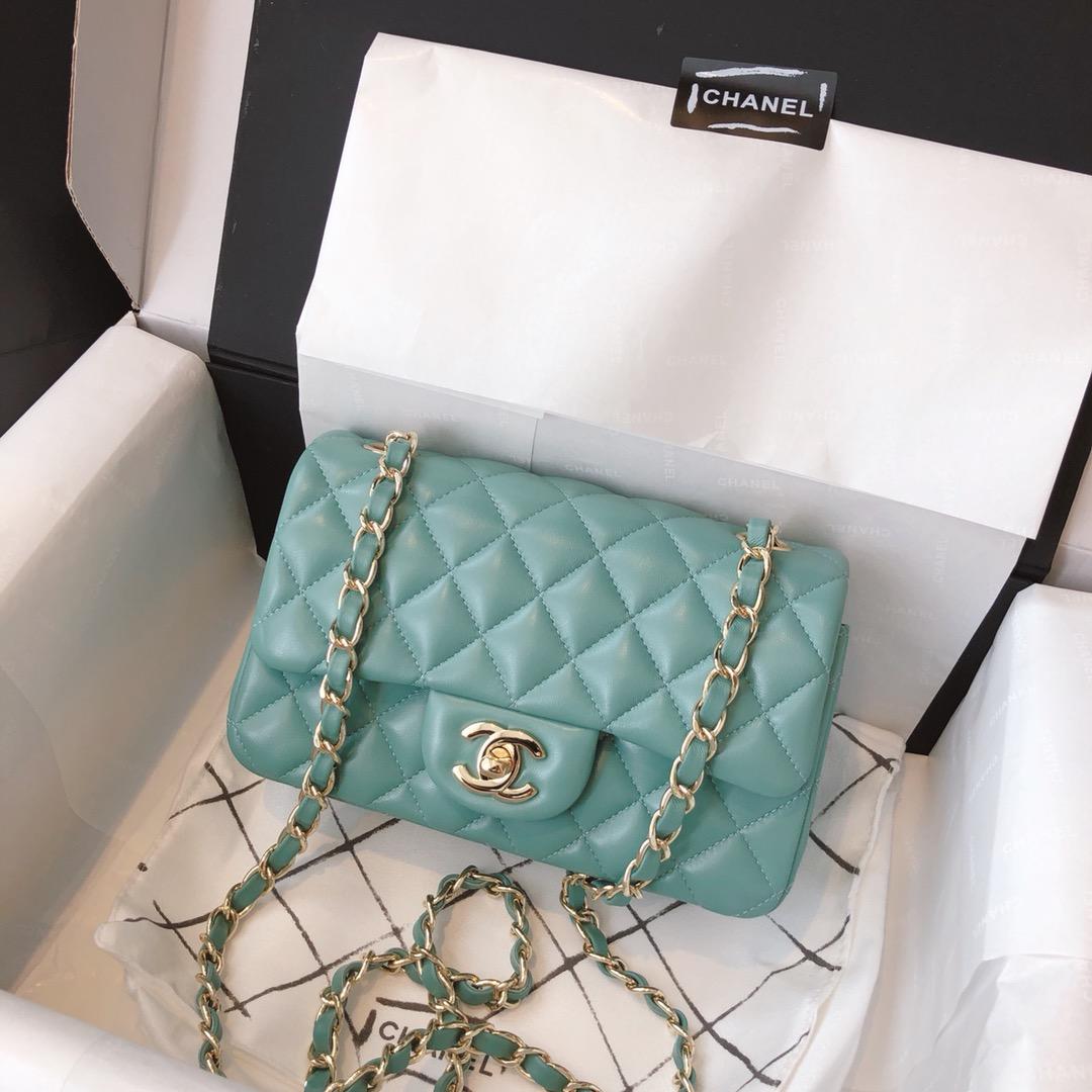 Chanel 香奈儿 真品级 原厂bodinjoyeux羔羊皮 CF20cm现货 薄荷绿