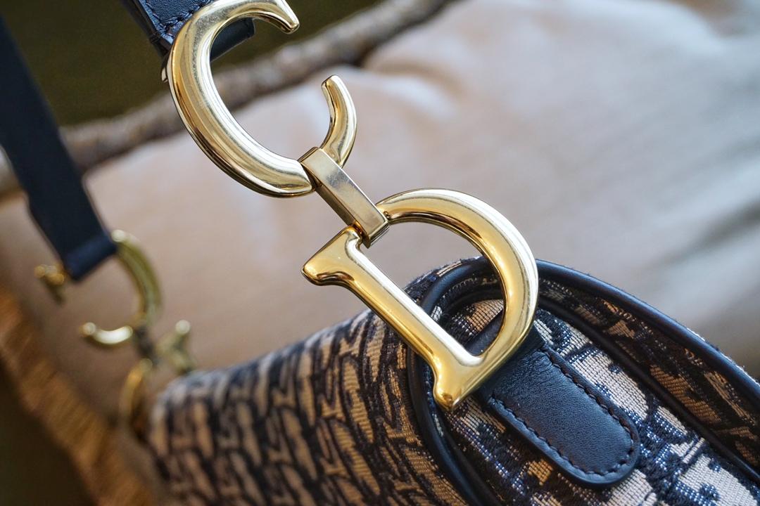 Dior当红马鞍包 Classic经典老花 布纹蓝满满复古风情