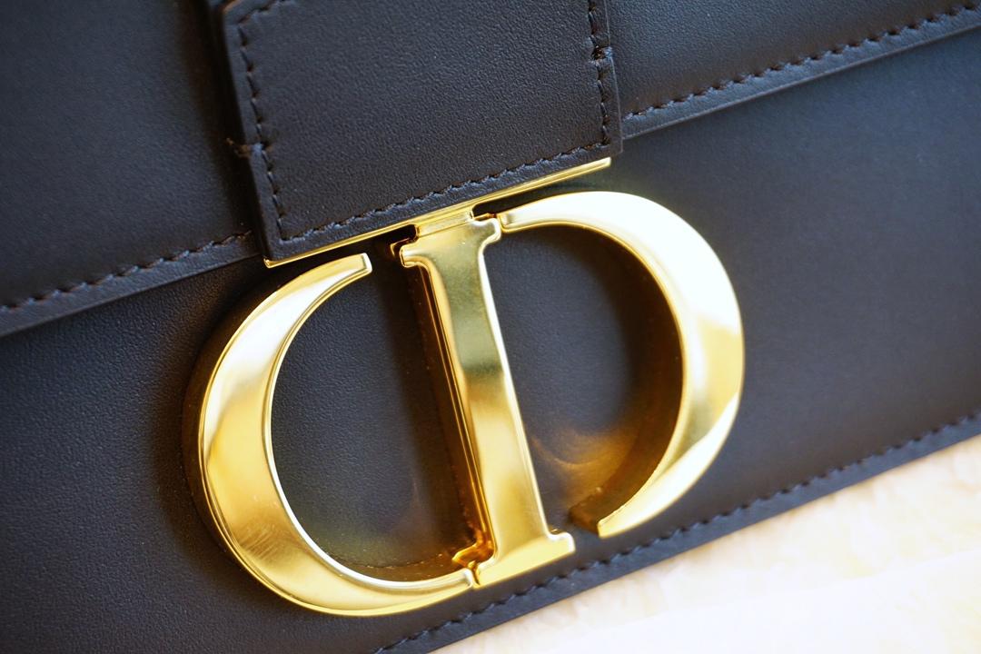 Dior 蒙田 经典黑色 进口原厂头层牛皮 24K五金 代工厂出货