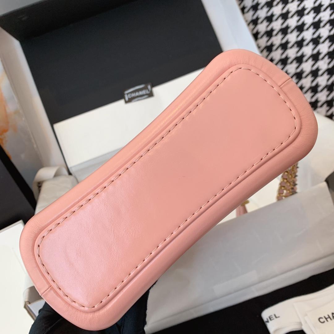 Chanel 香奈儿 Gabrielle 顶级代购版本 20cm~原厂树纹皮~樱花粉