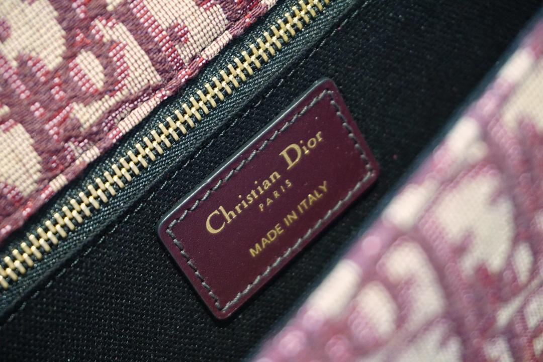 Dior 迪奥 老花布纹 酒红 蒙田包 代工厂出货 一件代发