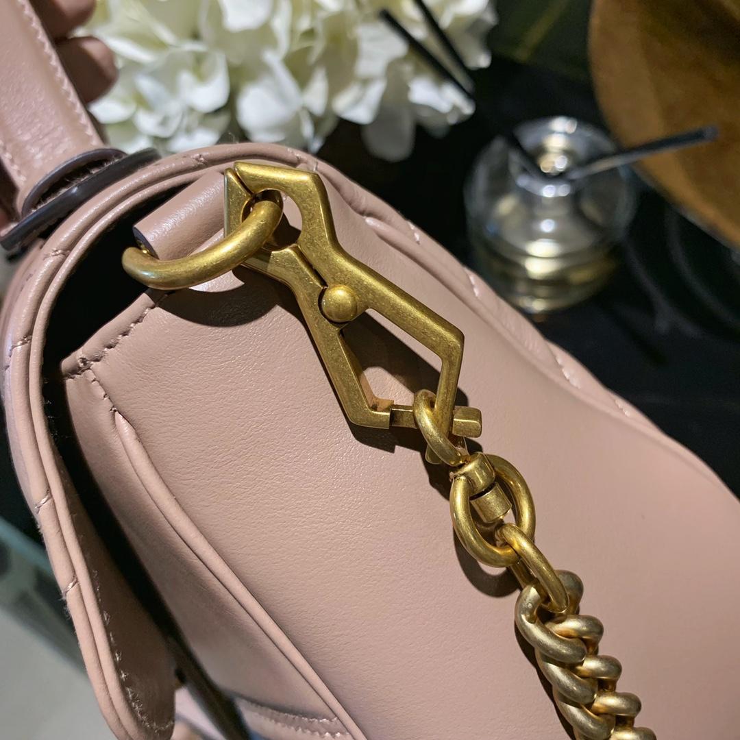 G家手挽链条包 奶茶色 百搭时尚款式 明星同款 原厂进口皮