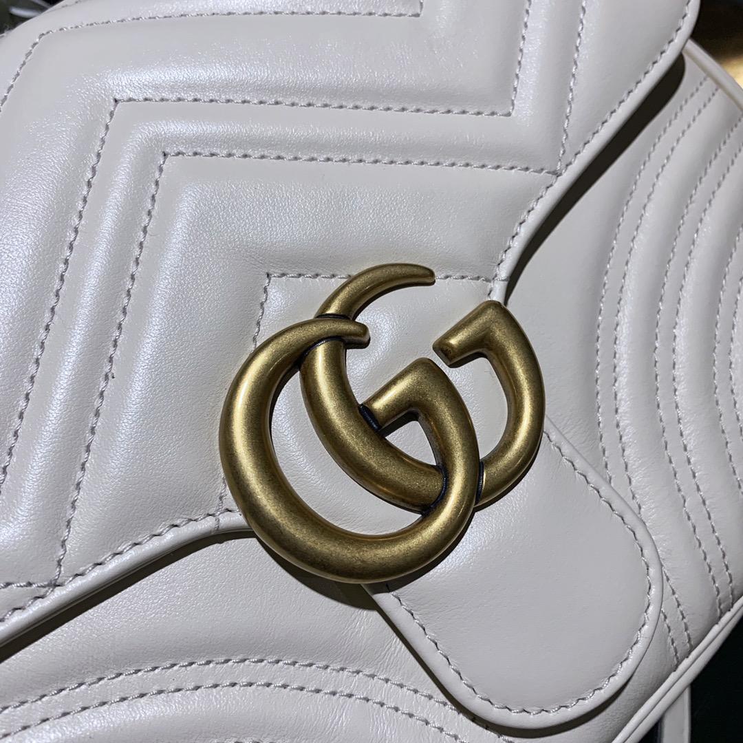 Gucci 古驰 双G复古五金金属扣 仙气白 代工厂出货