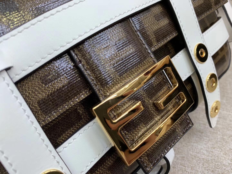 Baguette手袋 外套可拆卸 独特全新设计 老花F标志面 金扣