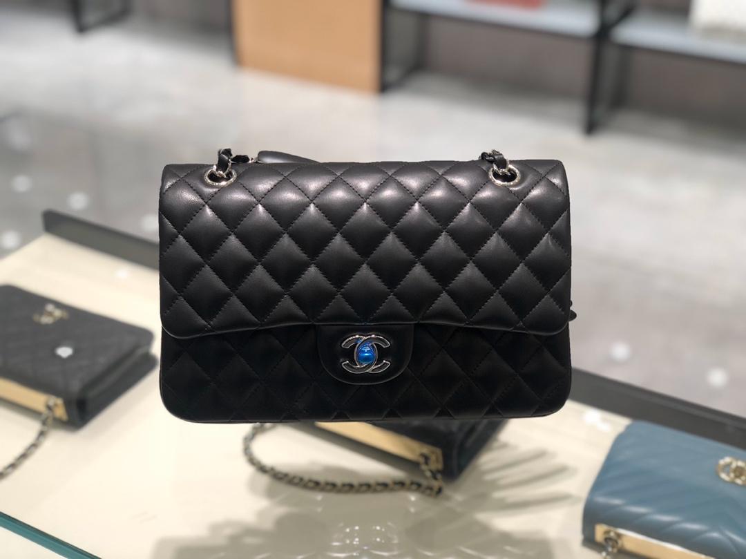 Chanel 香奈儿【正品级】黑色银扣Ch@nel CF 法国原厂小羊皮 25cm~原厂皮